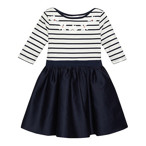 J by Jasper Conran - Designer girl+s navy striped dress