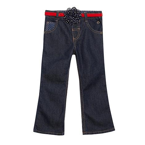 J by Jasper Conran - Designer girl+s blue bootcut belted jeans