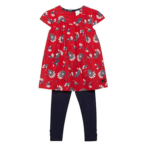 J by Jasper Conran - Designer girl+s red floral top and leggings set
