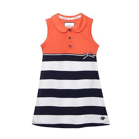 J by Jasper Conran - Designer girl+s orange striped jersey dress