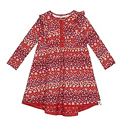 Mantaray - Girls' red floral print dress