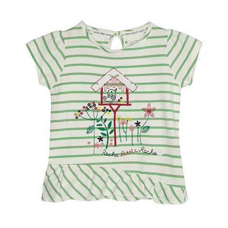 RJR.John Rocha - Designer girl+s green striped birdhouse t-shirt