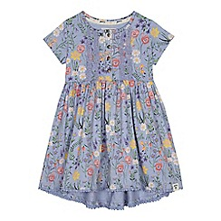 Mantaray - Girls' lilac floral print dress