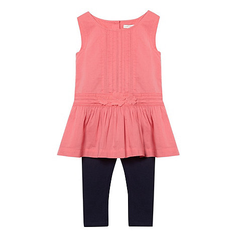 RJR.John Rocha - Designer girl+s pink tunic and leggings set