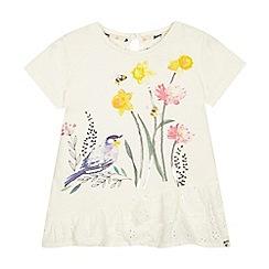 Mantaray - Girls' ivory sequinned t-shirt