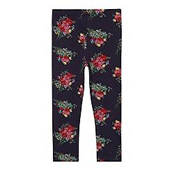 RJR.John Rocha - Designer girl's navy floral printed leggings