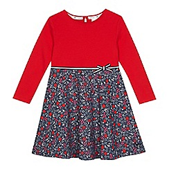 J by Jasper Conran - Girls' red floral dress