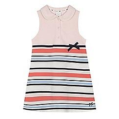 J by Jasper Conran - Girls' pink striped tennis dress