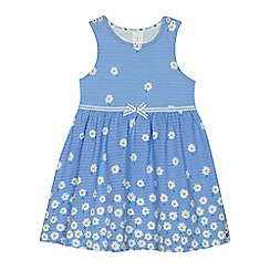 J by Jasper Conran - Girls' light blue textured jersey dress