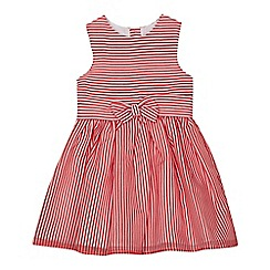 J by Jasper Conran - Girls' red burn out striped dress