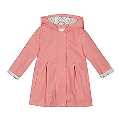 J by Jasper Conran - Girls' pink rubber coat