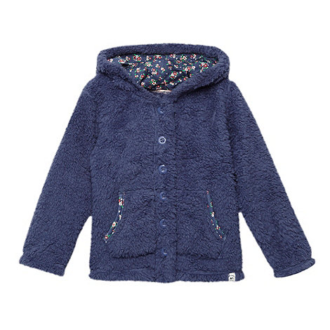 Mantaray - Girl+s blue fleece hoodie