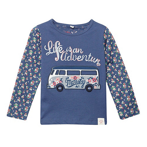Mantaray - Girl+s blue +Life Is An Adventure+ t-shirt