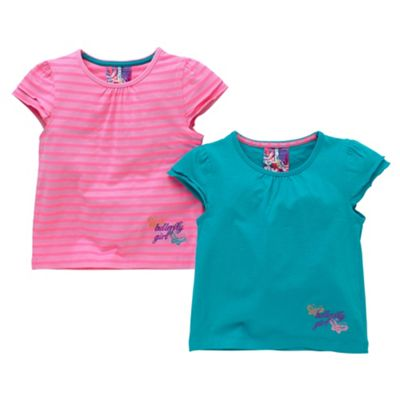 Pack of two frill t-shirts