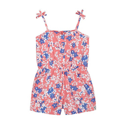Mantaray - Girl+s pink floral playsuit