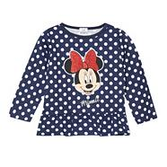 Girl's navy spotted 'Minnie Mouse' top
