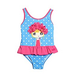 bluezoo - Girl's blue swimmer girl swimsuit