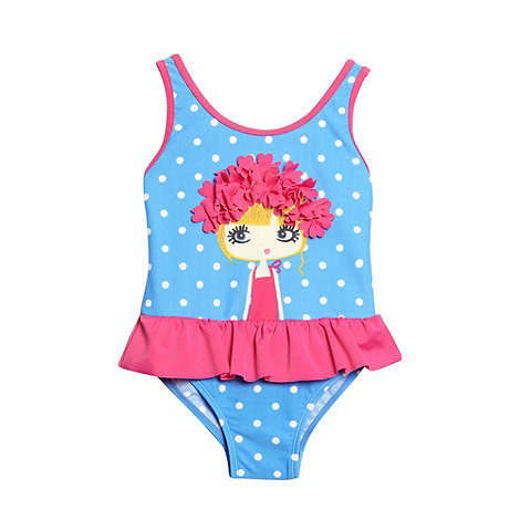 bluezoo - Girl+s blue swimmer girl swimsuit