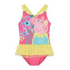 Peppa Pig - Girl's pink tropical 'Peppa Pig' swimsuit