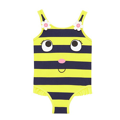 bluezoo - Girl+s yellow striped bumblebee swimsuit