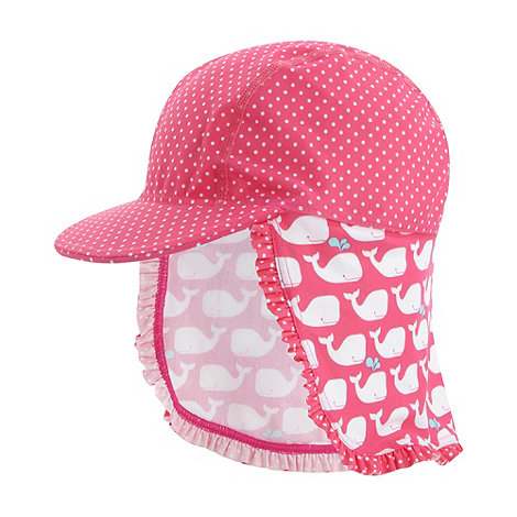 bluezoo - Girl+s pink whale patterned hat