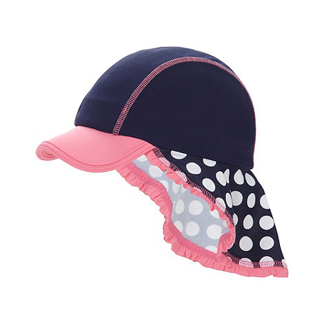 bluezoo - Girl+s navy spotted sun hat