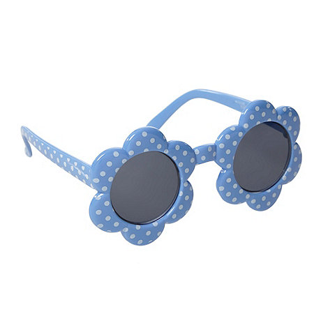 bluezoo - Girl+s blue spotted flower sunglasses