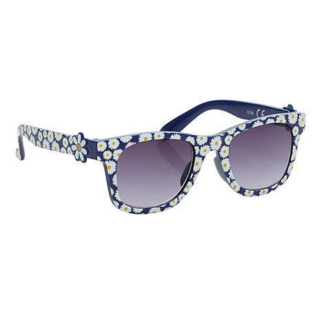 bluezoo - Girl+s navy daisy sunglasses