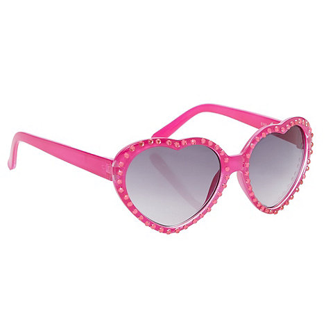 bluezoo - Girl+s pink rhinestone heart sunglasses