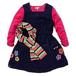 bluezoo - Girl's purple cord pini dress set
