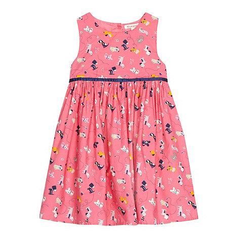 bluezoo - Girl+s pink dog printed prom dress