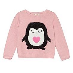 bluezoo - Pink knit penguin  jumper