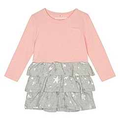 bluezoo - 2-in-1 girl's pink star print skirt dress
