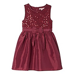 bluezoo - Girl's dark purple bow sequin dress
