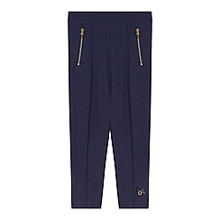 J by Jasper Conran - Designer girl's navy thick jersey leggings