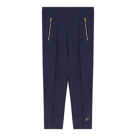 J by Jasper Conran - Designer girl+s navy thick jersey leggings