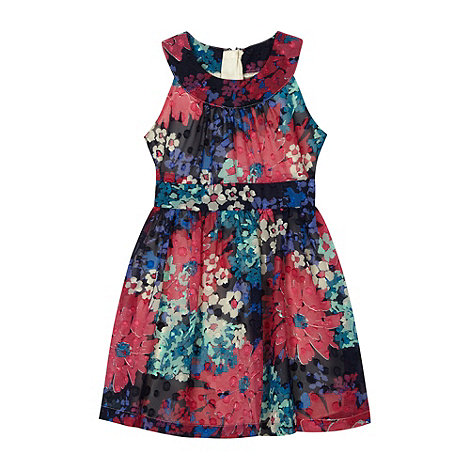 RJR.John Rocha - Designer girl+s pink burnout floral dress