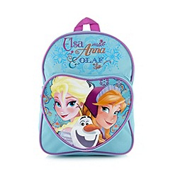 Disney Frozen - Blue girl's 'Disney's Frozen' heart backpack