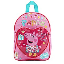 Peppa Pig - Girl's pink 'Peppa Pig' school backpack