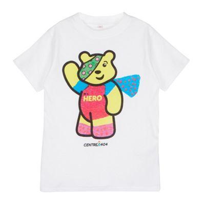 BBC Children In Need Girl´s white ´Pudsey´ hero t-shirt - . -