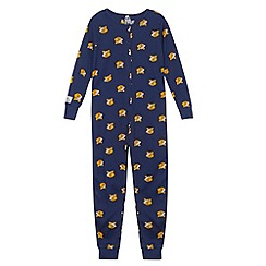 BBC Children In Need - Children's navy 'Pudsey' printed onesie