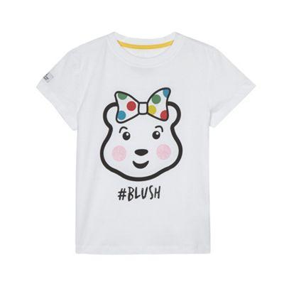 BBC Children In Need Girl´s white ´Blush´ printed t-shirt - . -