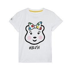 BBC Children In Need - Girl's white 'Blush' printed t-shirt