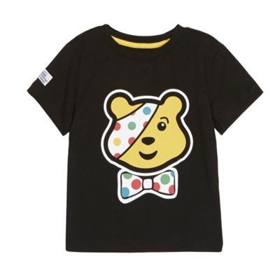 BBC Children In Need Boy´s black Pudsey Bear t-shirt - . -