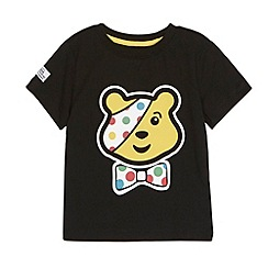 BBC Children In Need - Boy's black Pudsey Bear t-shirt