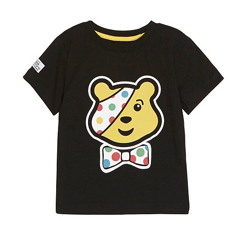 BBC Children In Need - Boy+s black Pudsey Bear t-shirt