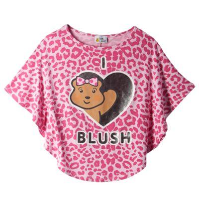 BBC Children In Need Girl´s pink leopard print ´Blush´ t-shirt - . -