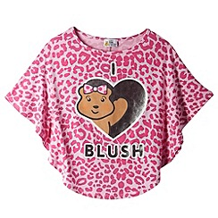 BBC Children In Need - Girl's pink leopard print 'Blush' t-shirt