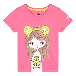 BBC Children In Need - Girl's pink 'Pudsey dress up' t-shirt