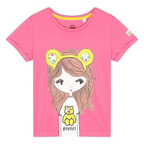BBC Children In Need - Girl+s pink +Pudsey dress up+ t-shirt
